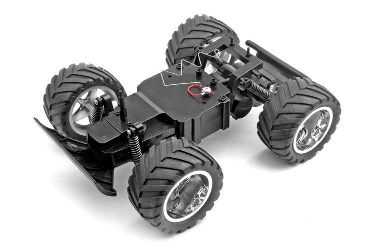 monster truck rc coche con cuerpo de pvc