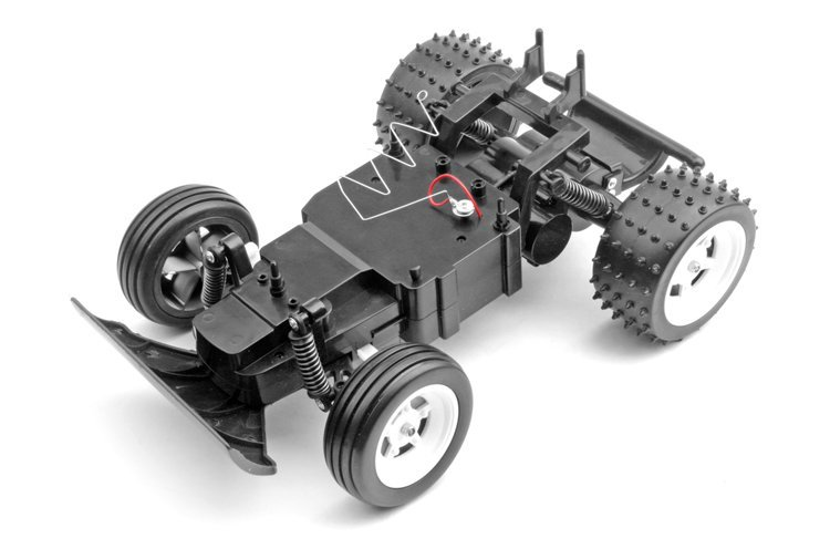 1:14 escala rc modelo de buggy con cuerpo de pvc