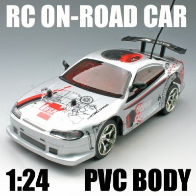 Maßstab 1:24 rc car auf- straße körper rc spielzeug auto pvc