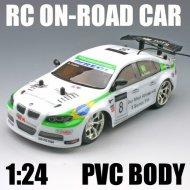 1:24 coche del rc escala sobre- carretera del coche del pvc cuerpo del juguete del rc