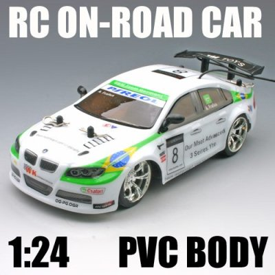 1:24 échelle rc voiture sur- route de voiture rc jouet corps en pvc