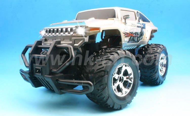 Escala 1:12 hummer rc camiones monstruo con la luz