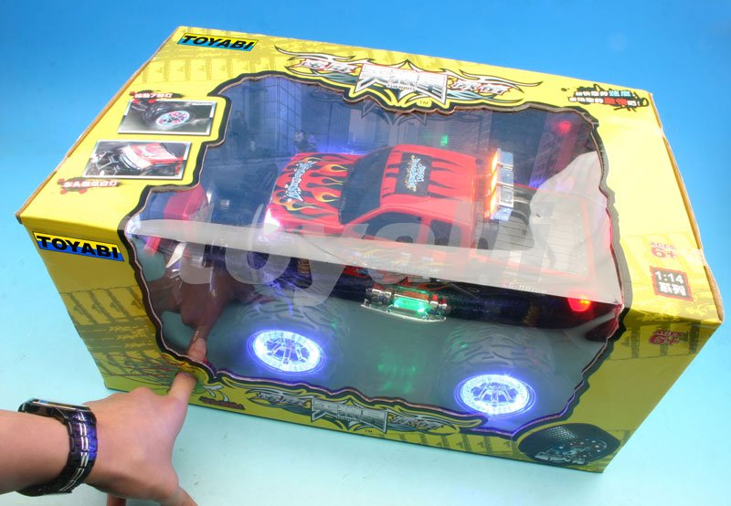 Escala 1:14 monster truck rc con luces led