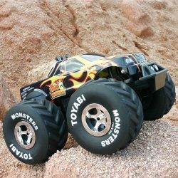 Juguetes de radio control, juguete del rc camiones monstruo, escala 1:6 toyabi monster truck rc con la luz