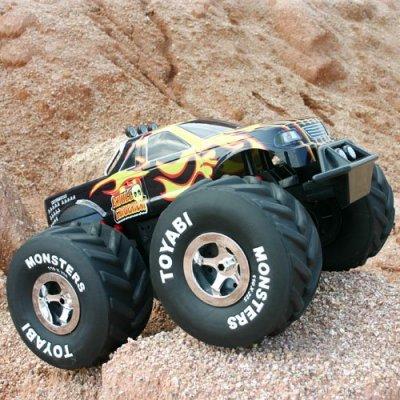 Funksteuerung spielzeug, rc monster truck, maßstab 1:6 toyabi rc monster truck mit licht