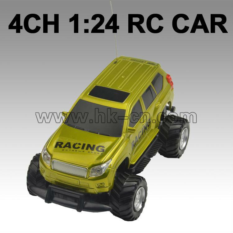 Canal 4 1:24 del coche del rc, mini rc camiones monstruo
