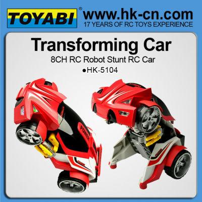 rc voiture robot 8ch déformation