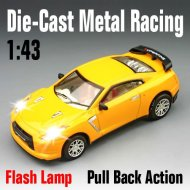 Rc auto, maßstab 1:43 sterben- cast racing super metall mit led-leuchten