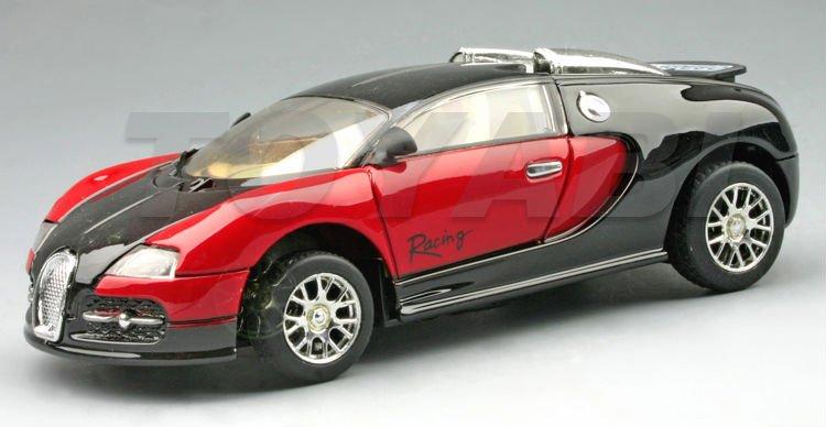 1:43 morir- coche fundido, de metal super juguete coche de carreras con luces led