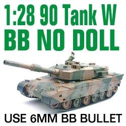 De radio control tanque de juguete, escala 1:28 90 rc tanque con tiro 6mm bb bala