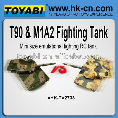 Rc mini tank réservoir combats t90 rc. versun m1a2 réservoir réservoir rc