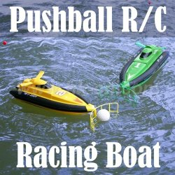 mini pushball racing bateau rc
