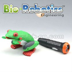 grenouille en plastique animaux jouets pour enfants commandés par la lumière