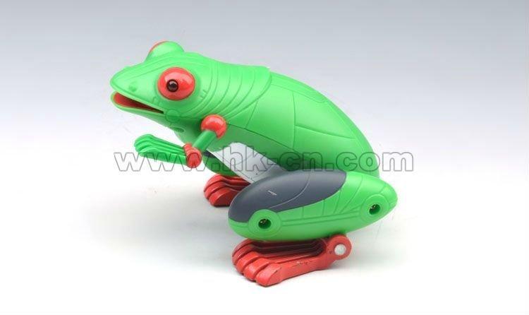 de plástico rana animales juguetes para niño controlado por la luz
