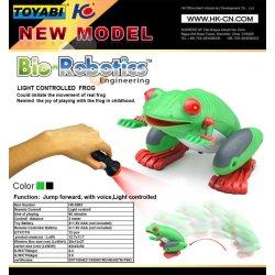 De plástico de la rana de juguete para niños, control de la luz del rc juguetes de los animales mejor regalo
