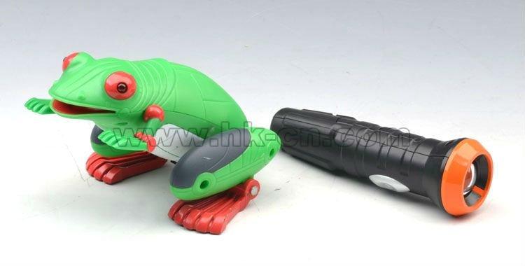 En plastique grenouille jouet pour enfant, light control rc jouets pour animaux de meilleur cadeau