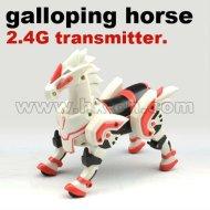 2.4g sender kunststoff galoppierenden pferd spielzeug für jungen