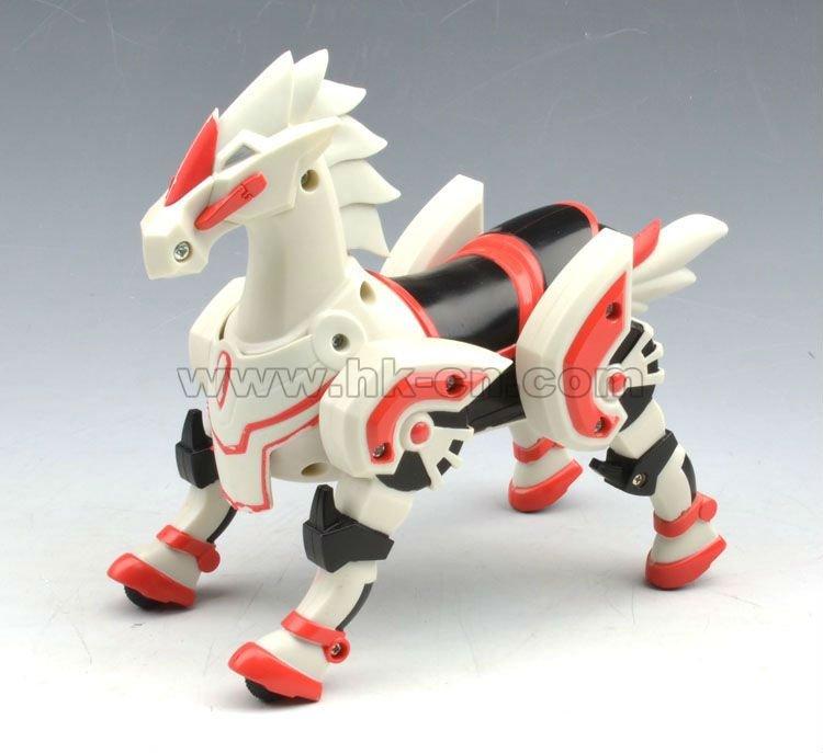 Transmisor 2.4g galopante caballo de plástico de juguete para niños