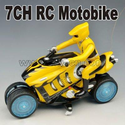 7ch rc de la motocicleta con el giro a la deriva de la función mini moto