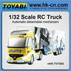 mini rc camiones juguetes con automática de mecanismo desmontable rc camión remolque para la venta