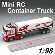 Mini 1:98 échelle rc camions tracteur avec quatre couleurs design rc camions tracteur remorque