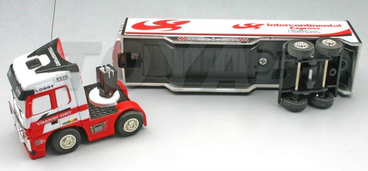 Mini 1:98 escala de rc camiones tractor con diseño de cuatro colores rc tractor de camiones de remolque
