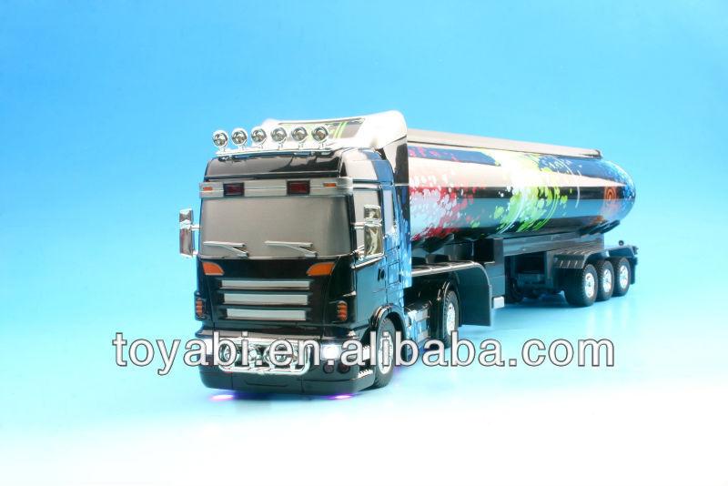 1/32 escala rc camiones tractor con un diseño multicolor rc acoplado del tractor de camiones para la venta