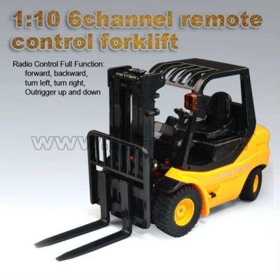 1:10 6 canales de control remoto rc carretilla elevadora coche de ingeniería