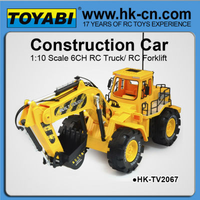 1:10 6 canal rc juguete de excavadoras, excavadora de rc, rc modelos de excavadoras