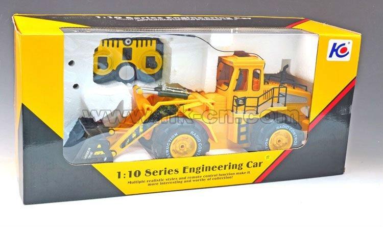1:10 6 bulldozer canal rc tirando del carro