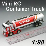Mini 1:98 escala de camiones de contenedores rc con diseño de cuatro colores