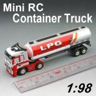 Mini 1:98 skala rc container-lkw mit vier farben design