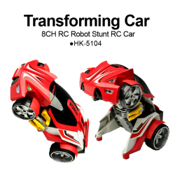 8CH RC transforming robot stunt car