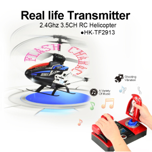 Hot Sale 2.4GHz 3.5CH real life transmitter RC helicopter toys with LED message Flasher