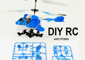 3.5CH Bricolage Toys DIY Multifunction RC Helicopter