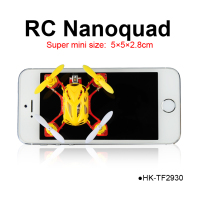 TOYABI 2.4GHz RC nano quadcopter nano quad mini size 4CH ufo smallest radio control flying toys drone
