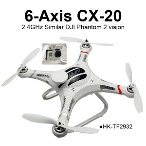 TOYABI CX-20 Auto-Pathfinder UVA Similar as DJI Phantom 1 2.4GHz 4CH Camera GPS Quadrocopter