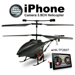 iPhone control WiFi Real time Transmission i-Spy Camera Helicopter