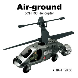 TOYABI 2.4G Air-ground 5CH Amphibious K027 RC Helicopter Multifunction toys
