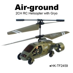 TOYABI mini size Amphibious 2.5CH Air-ground infrared control Helicopter K017 Multifunction toys