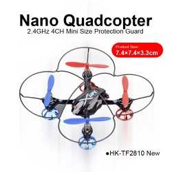 TOYABI 2.4GHz 4CH nano quadcopter mini size protection guard RC Helicopter toys