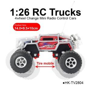 TOYABI new 1:26 4wheel remote control truck ABS electric cars promotional toys for sales