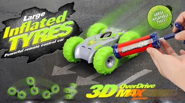 Wholesales 3D overdrive RC Car with big inflated tyres HK-TV2895-7