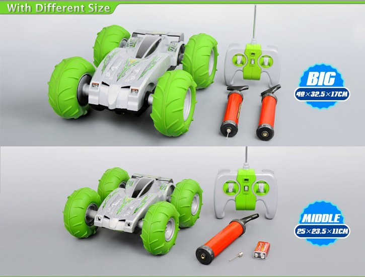 Wholesales 3D overdrive RC Car with big inflated tyres HK-TV2895-8
