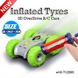 Wholesales 3D overdrive stunt RC car with big inflated tyres