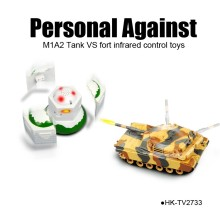 Persenal against M1A2 tank vs fort infrared control battle toys