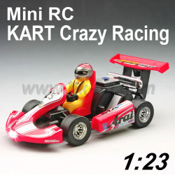 1:23 Scale Mini RC KART Crazy Racing Toys Car With LEDs Light (HK-TV3023)