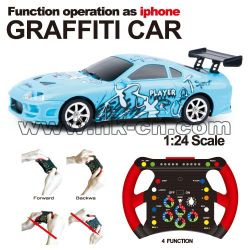 1:24 Scale RC Mini Racing Car graffiti car Gravity Sensing Car (HK-TV2070)