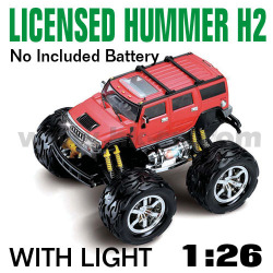 1:26 Scale Licensed Hummer H2 With LED lights and 4 colors (HK-TV8058D)