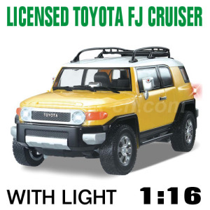 1:16 Scale Licensed TOYOTA FJ CRUISER With LED lights and 4 colors (HK-TV8057A)